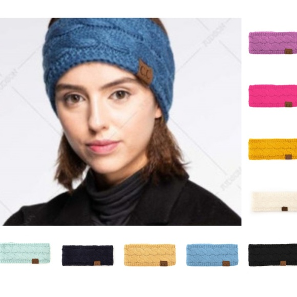602e2addb4a Solid cable knit C.C headwrap